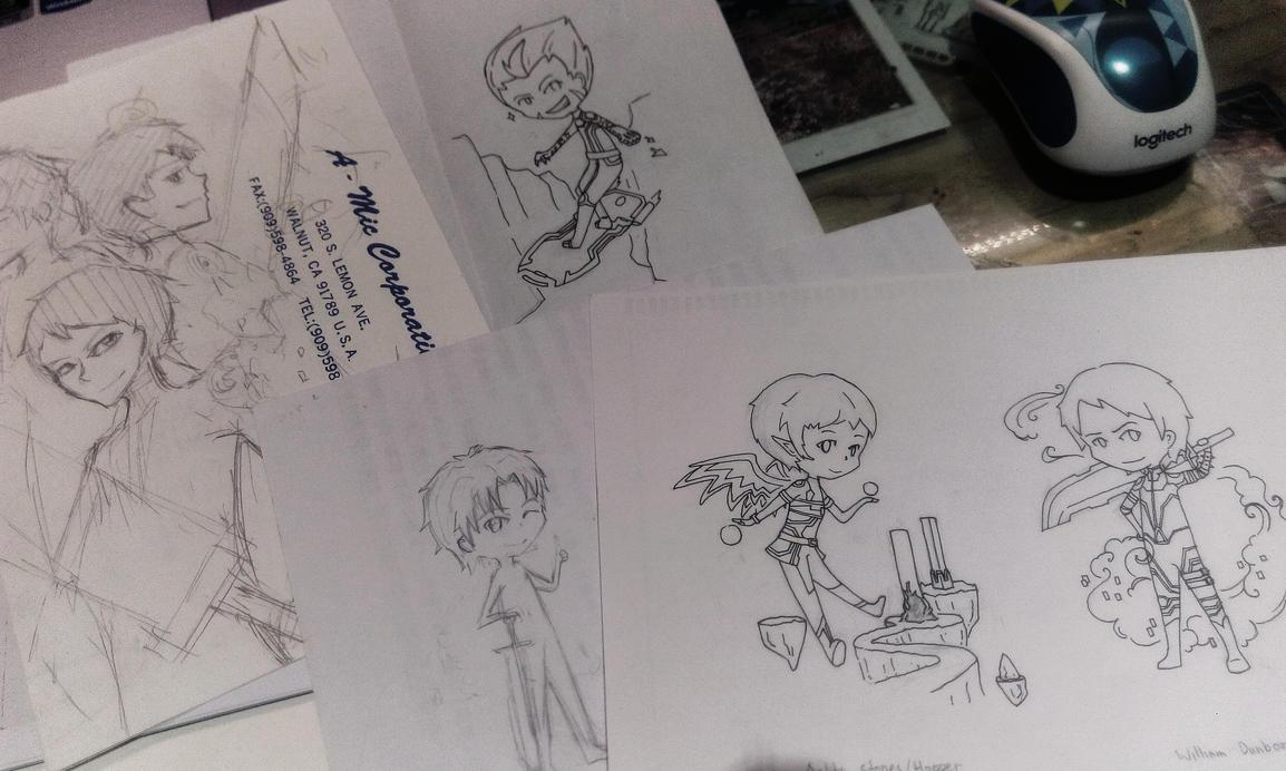 Code Lyoko Evolution Chibi (unfinished) by BlackQuillPen