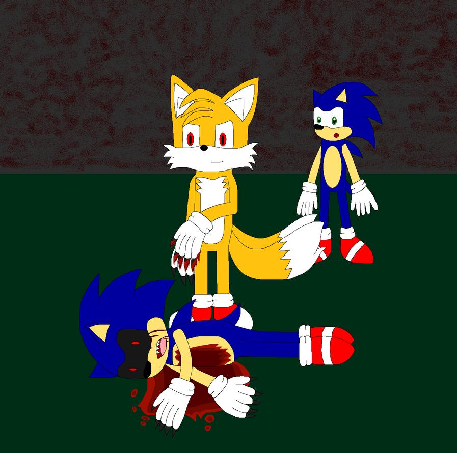Evil Tails Kills Sonic Exe By Kitsune257 On DeviantArt