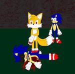 Evil Tails kills Sonic Exe