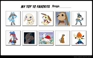 My Top 10 Favorite Dogs by Kitsune257