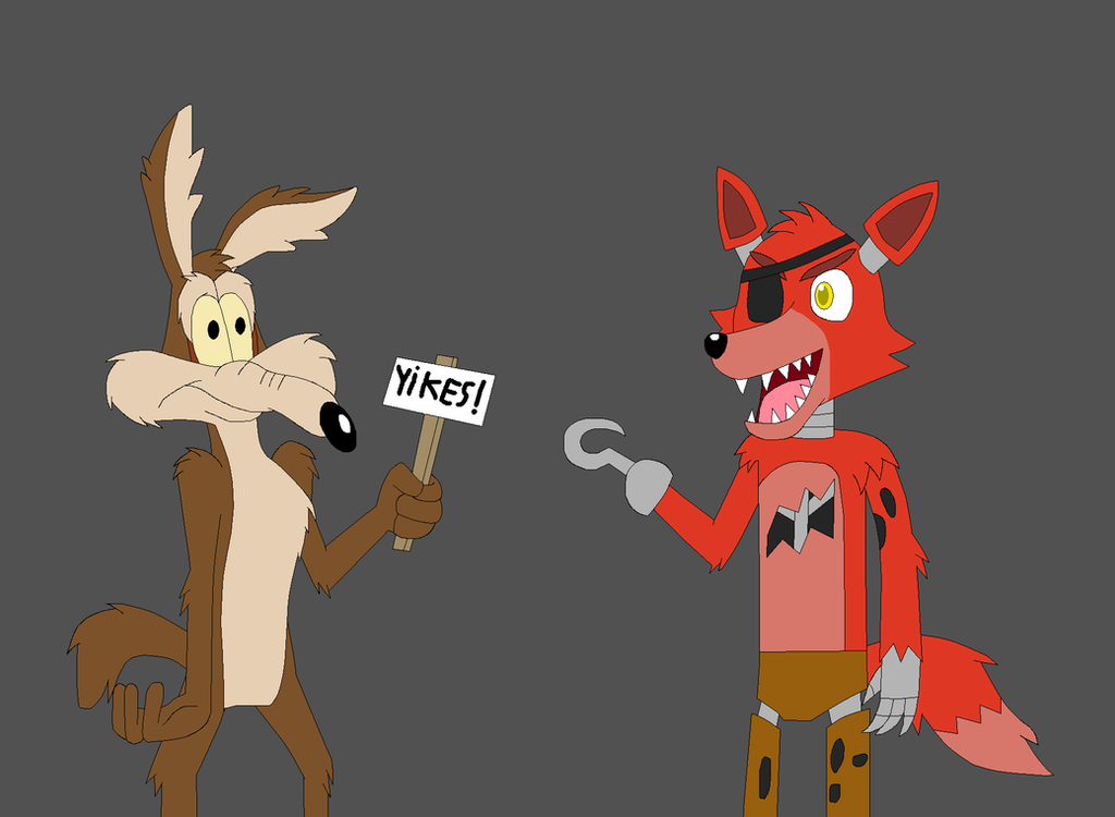 Wile e coyote and foxy the pirate fox by kitsune257 on deviantart