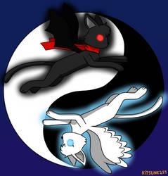 Yin Yang cats by Kitsune257