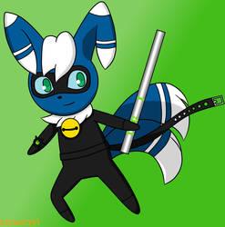 Meowstic as Cat Noir by Kitsune257