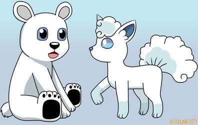 Polar and Alolan Vulpix by Kitsune257