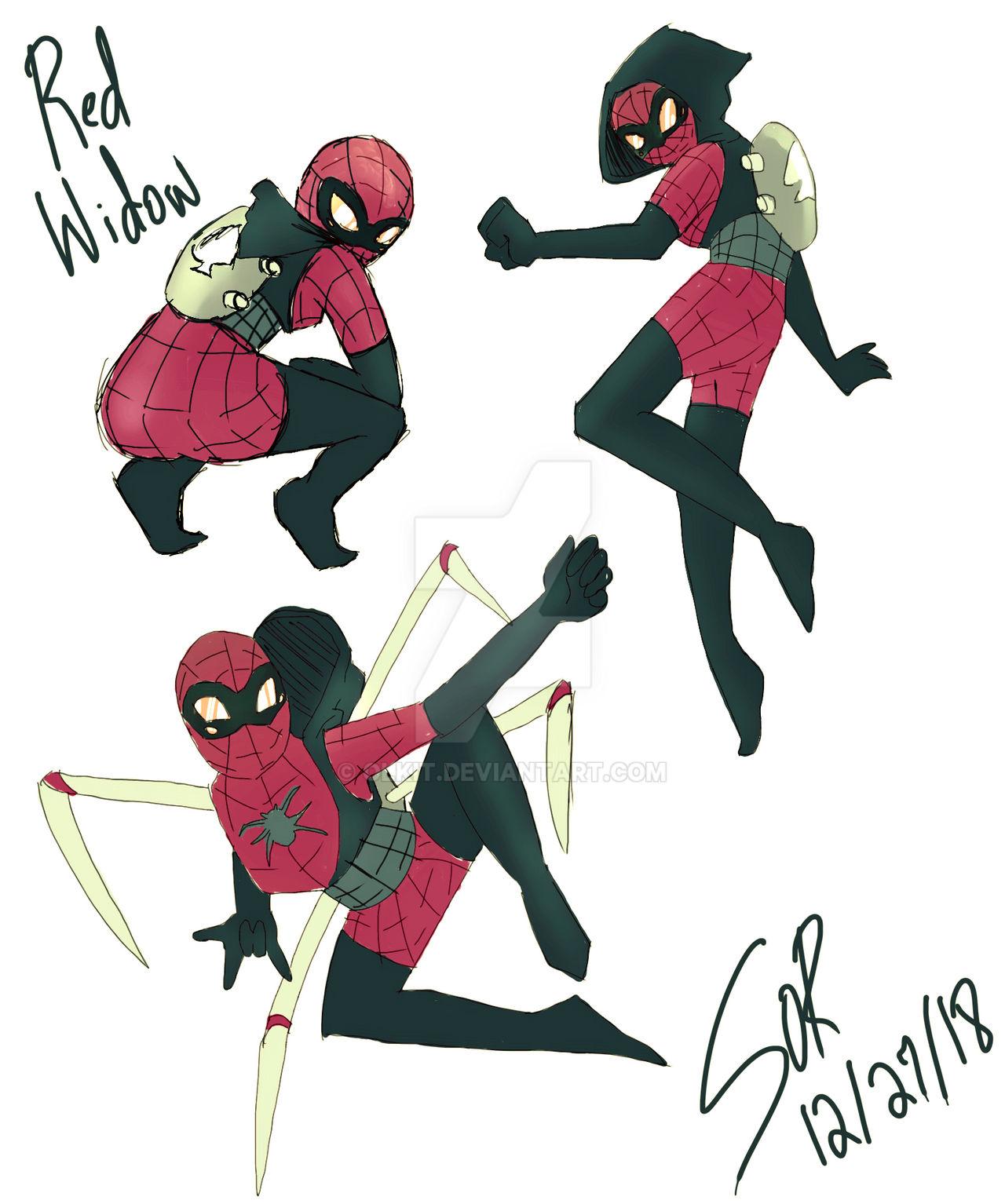 Red Widow Spidersona By Olkit On Deviantart