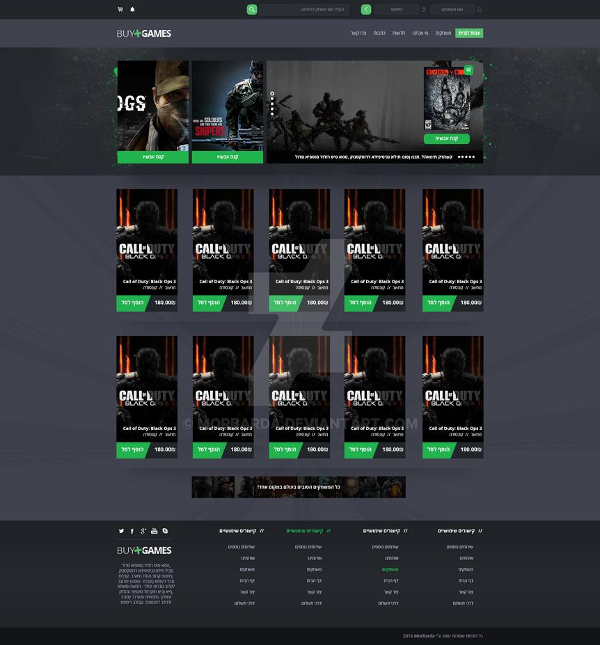 BuyGames Website design by MorBarda