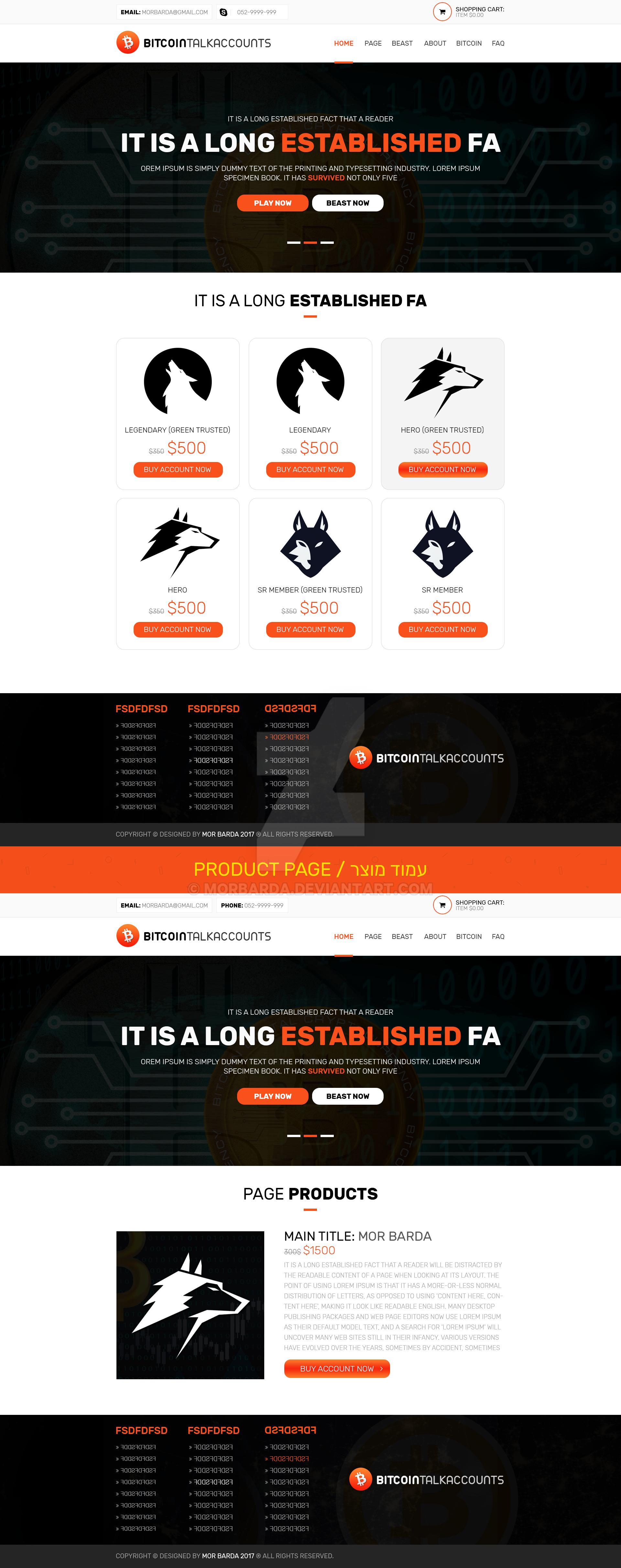 Website Design - Bitcointalkaccounts - SOLD by MorBarda