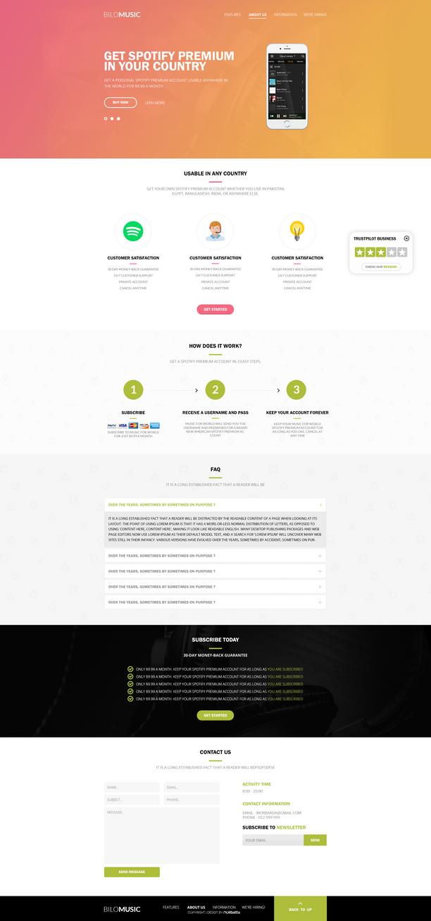 Website Design - Bilomusic   - SOLD by MorBarda