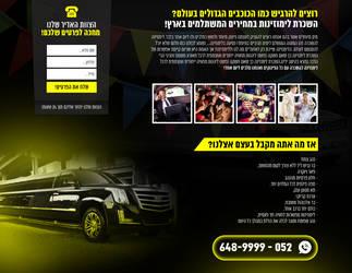 Website Design - Landing page - limousine - SOLD by MorBarda