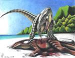 Beach of the t-rex