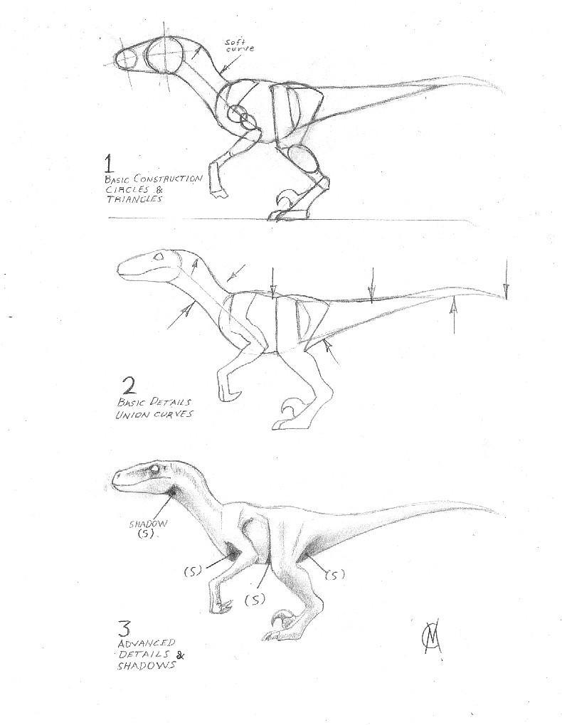 raptor tutorial 2 by vytor on deviantart