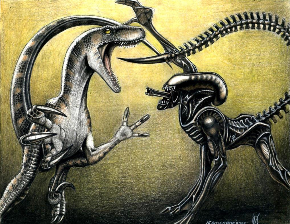 alien vs raptor AVR by VyToR on DeviantArt