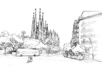 Sagrada Familia by paraberio