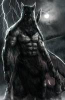 Primitive Batman by AbelVera