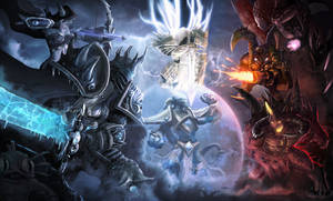 Heroes of The Storm Red vs Blue