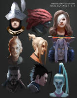 Final Fantasy Doodles by AbelVera