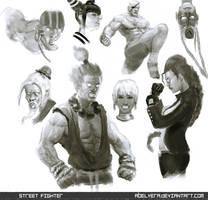 Street Fighter Doodles by AbelVera