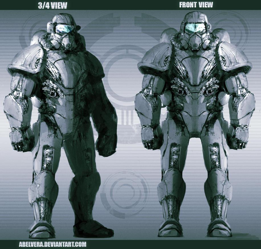 Power Armor Concept By AbelVera