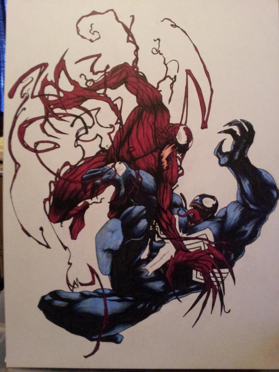 Carnage vs Venom by killertomm on DeviantArt