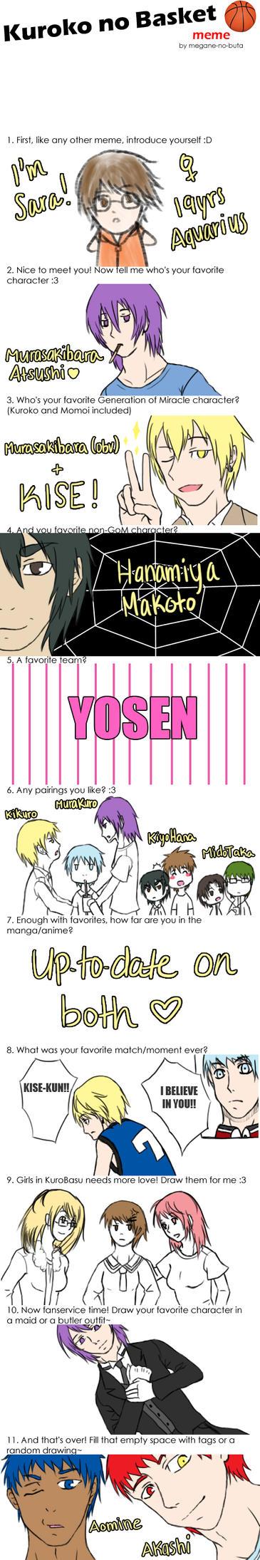 KuroBasu Meme by naotoshirogane1