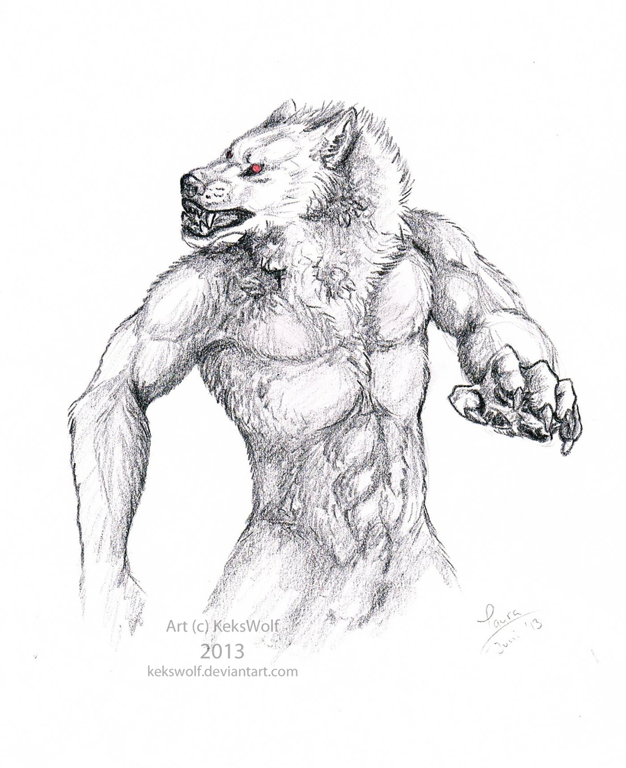 Charcoal Werewolf by KeksWolf