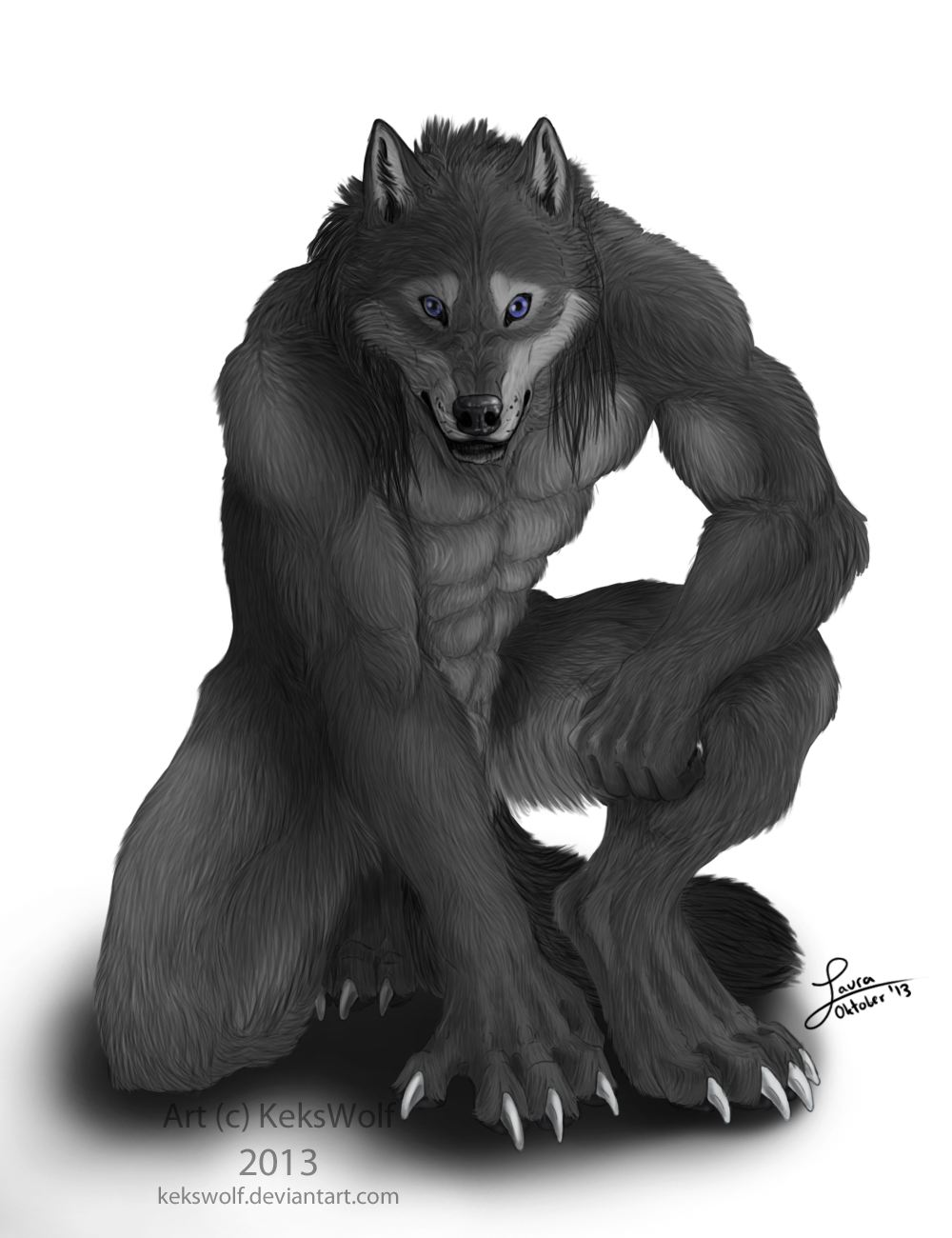 Kneeproud - Commission by KeksWolf