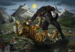 Combat of Creatures - Commission