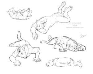 Werewolves lying around