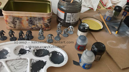 Painting the miniatures WIP -  [Game Project] by KeksWolf