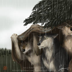 Fullmoon Card 'Continuous Rain' - [Game Project] by KeksWolf