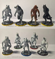 Painted Miniatures: Wolves - [Game Project] by KeksWolf
