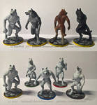 Painted Miniatures: Wolves - [Game Project]