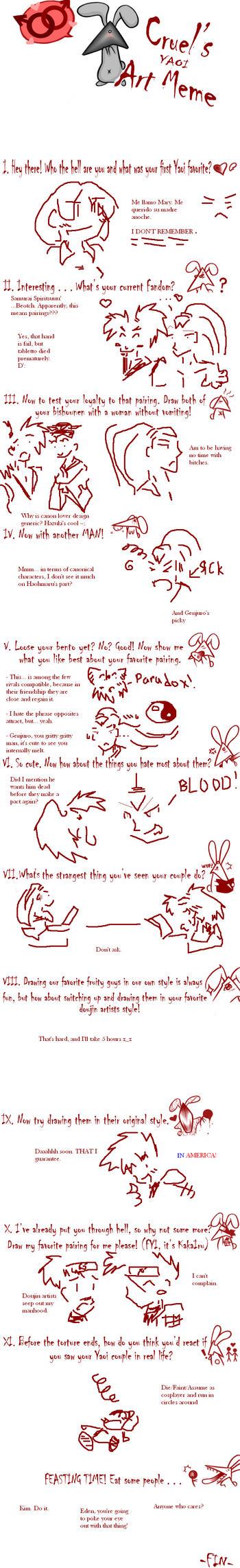 Yaoi Art Meme by GringoLee