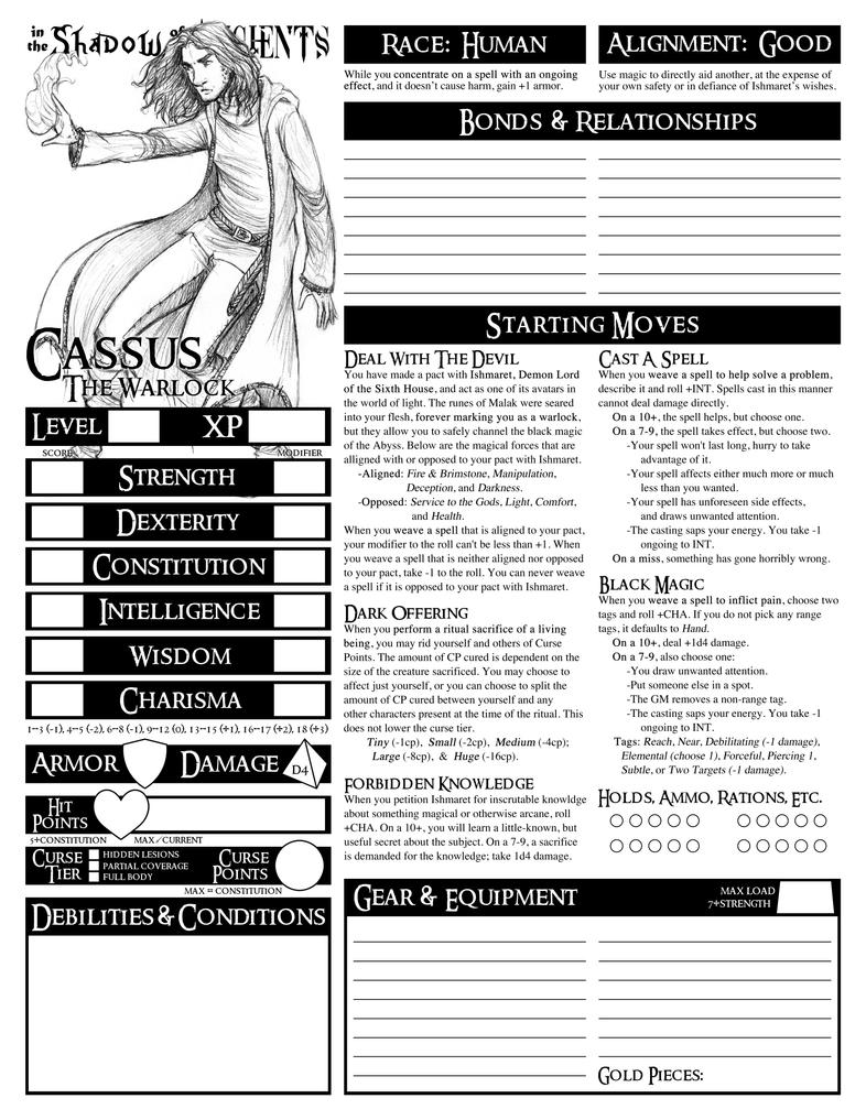 Dungeon World] Playbooks mit alternativem Layout gesucht