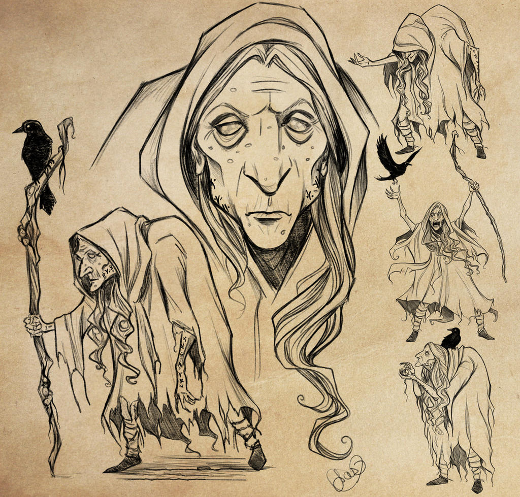 Character Design Study : Crone of the western wood character design study by