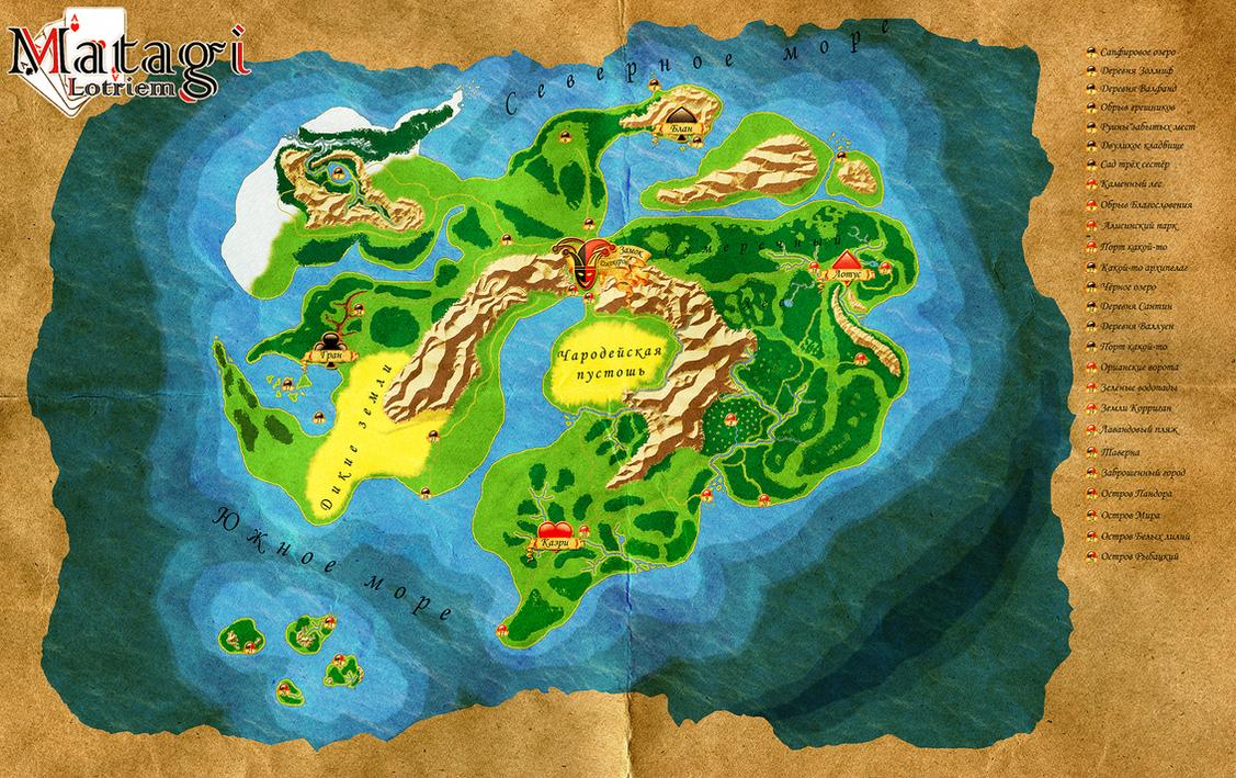 Fantasy map 1 by KsanLeon