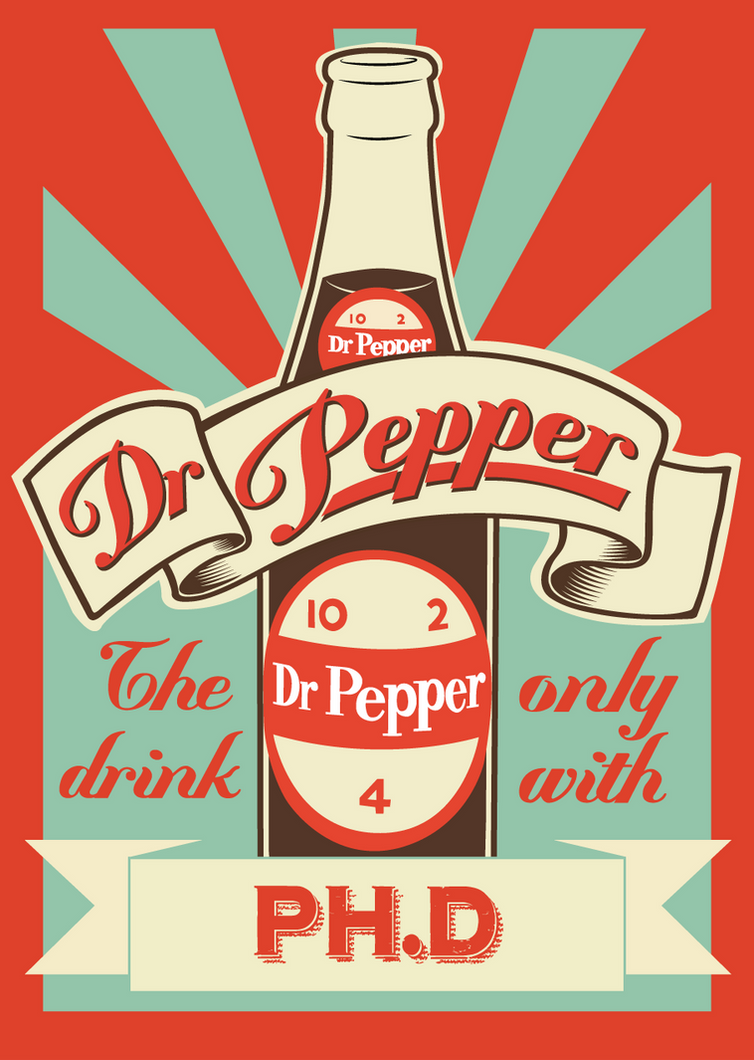 Dr Pepper Vintage poster by fabianrensch