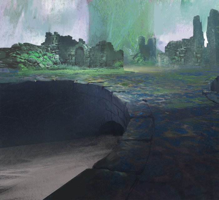 Forgotten Ruins [With Process Gif] by fabianrensch