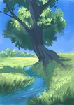 Tree by the creek [with process video]