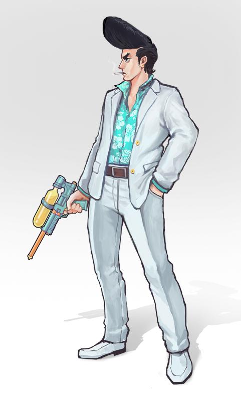 Brella - Super Soaker Yakuza by fabianrensch