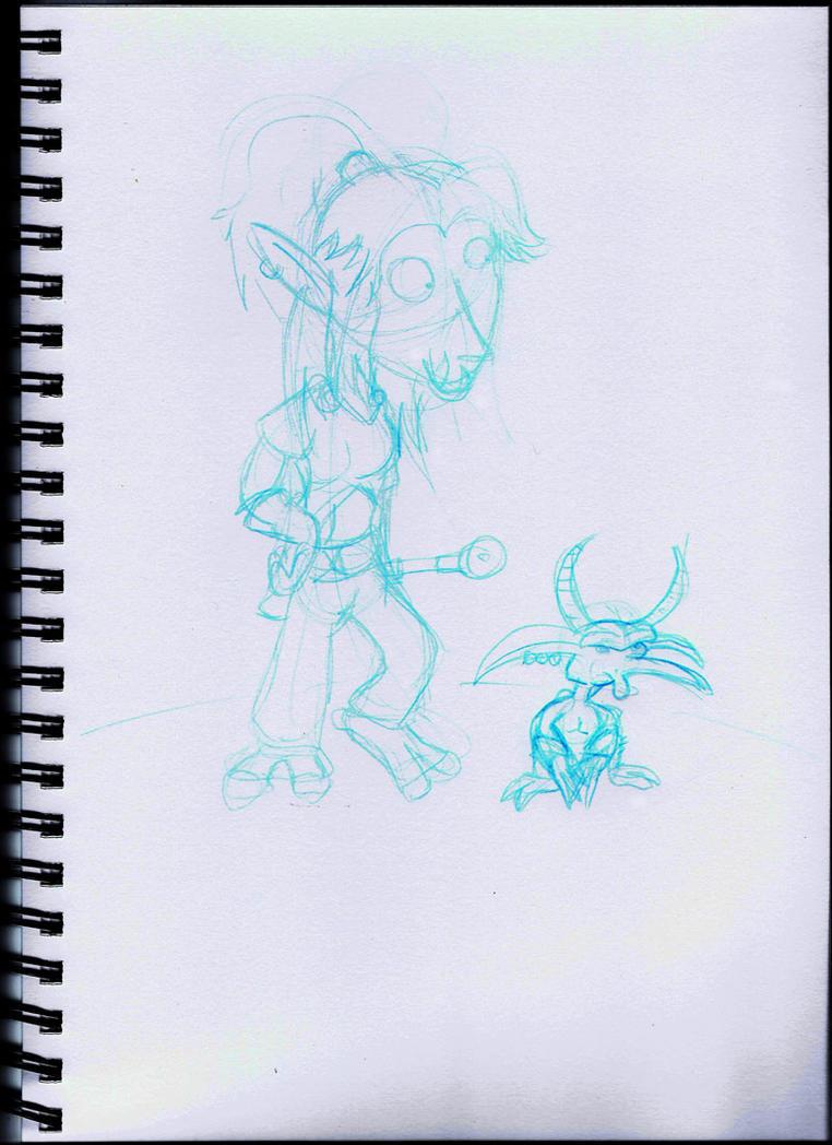 WoW Blue sketch by Atomicvege