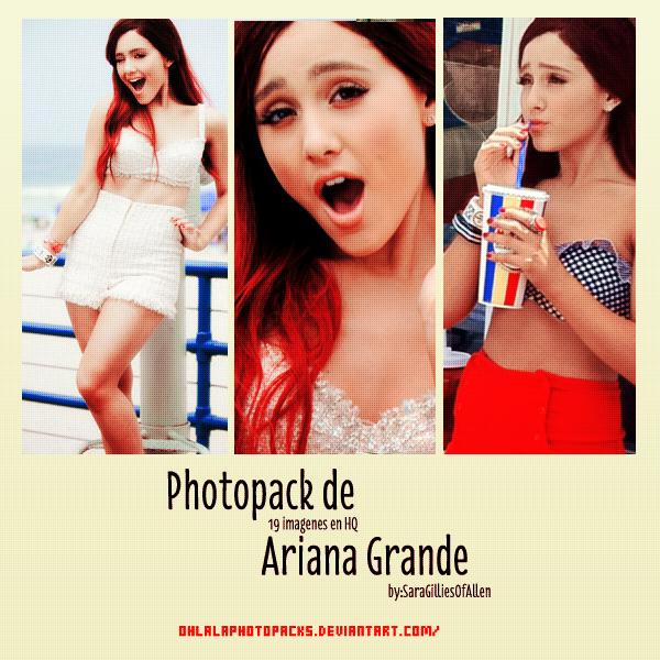 Photopack Ariana Grande by OhlalaPhotopacks
