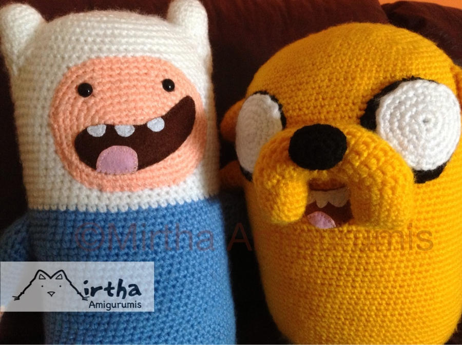 Finn and Jake amigurumis by MirthaAmigurumis on DeviantArt