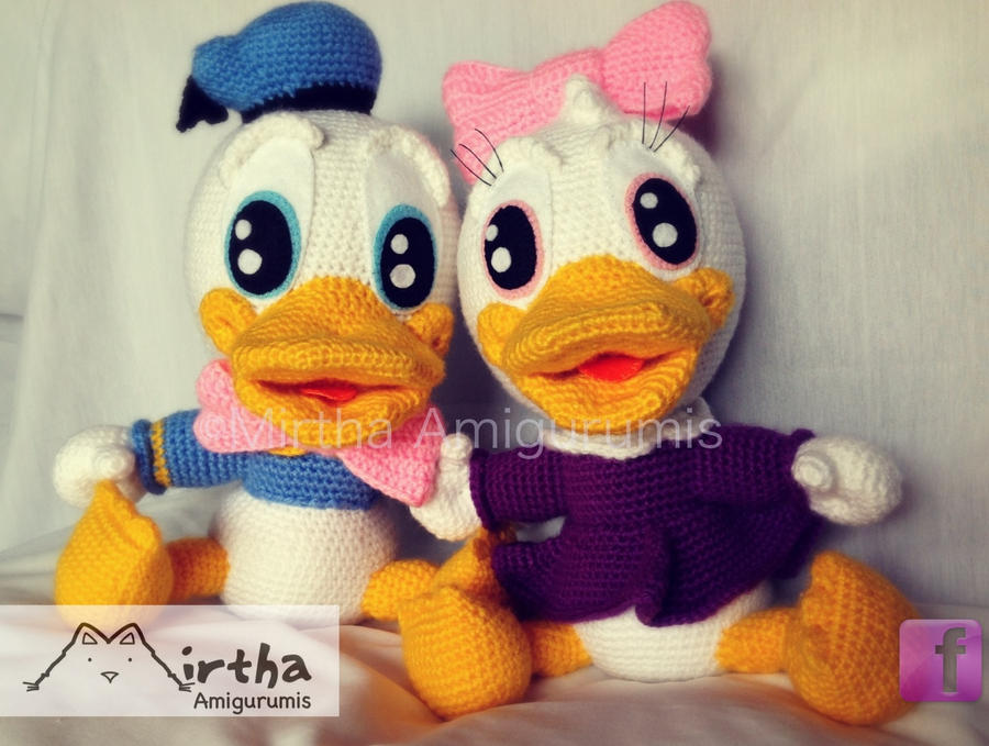 Baby Donald and Baby Daisy amigurumis by MirthaAmigurumis ...