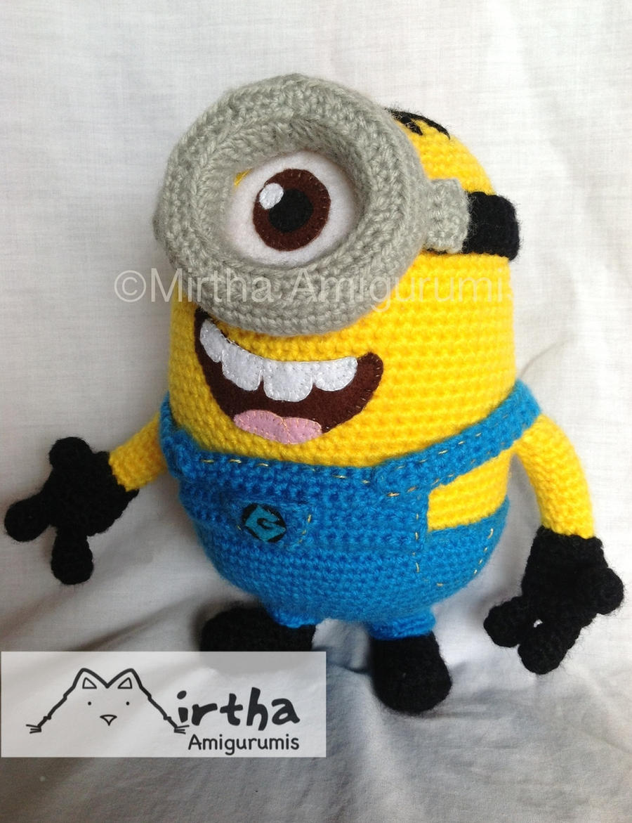 Free crochet pattern for minion toy squareone for amigurumi minion by mirtha amigurumis by mirthaamigurumis free crochet pattern bankloansurffo Images