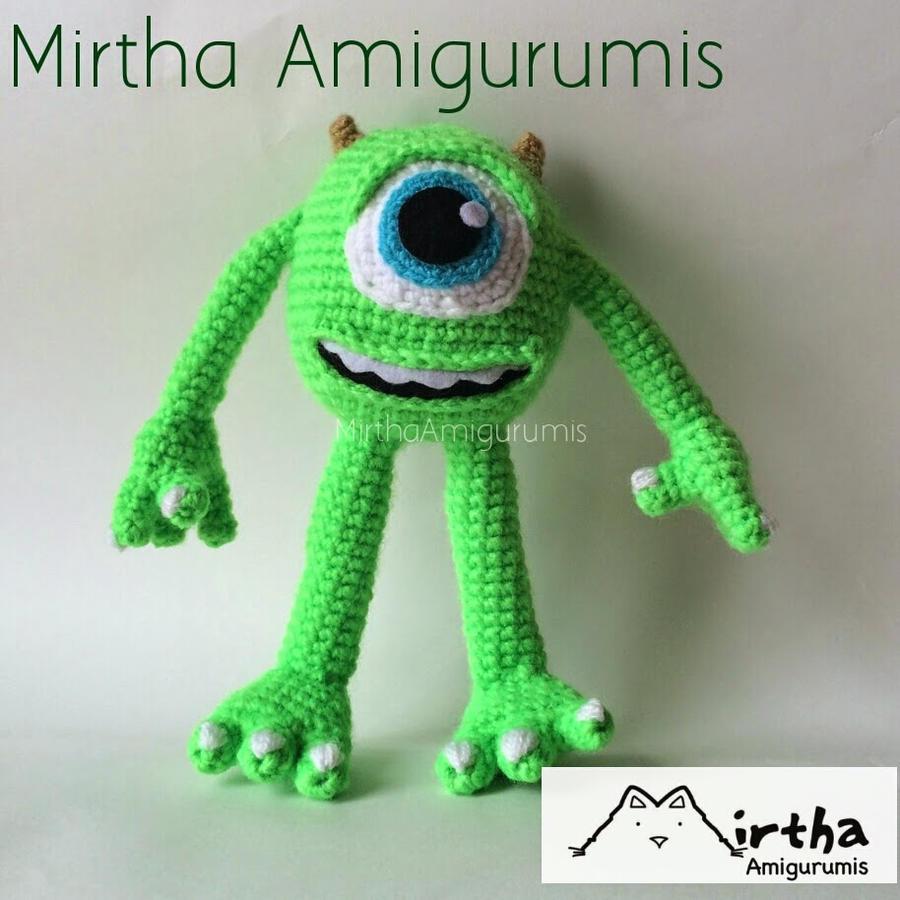 Bob Minion Amigurumi Pattern : Mike wazowski Amigurumi by MirthaAmigurumis on DeviantArt