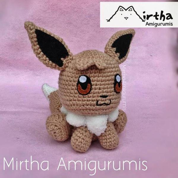 Amigurumi Pokemon Eevee : Amigurumi Eevee by MirthaAmigurumis on DeviantArt