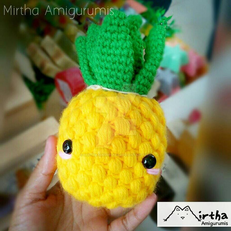 Pineapple Amigurumi by MirthaAmigurumis