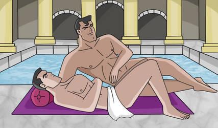 Superbat: Roman Baths by TheRealJerseyDevil