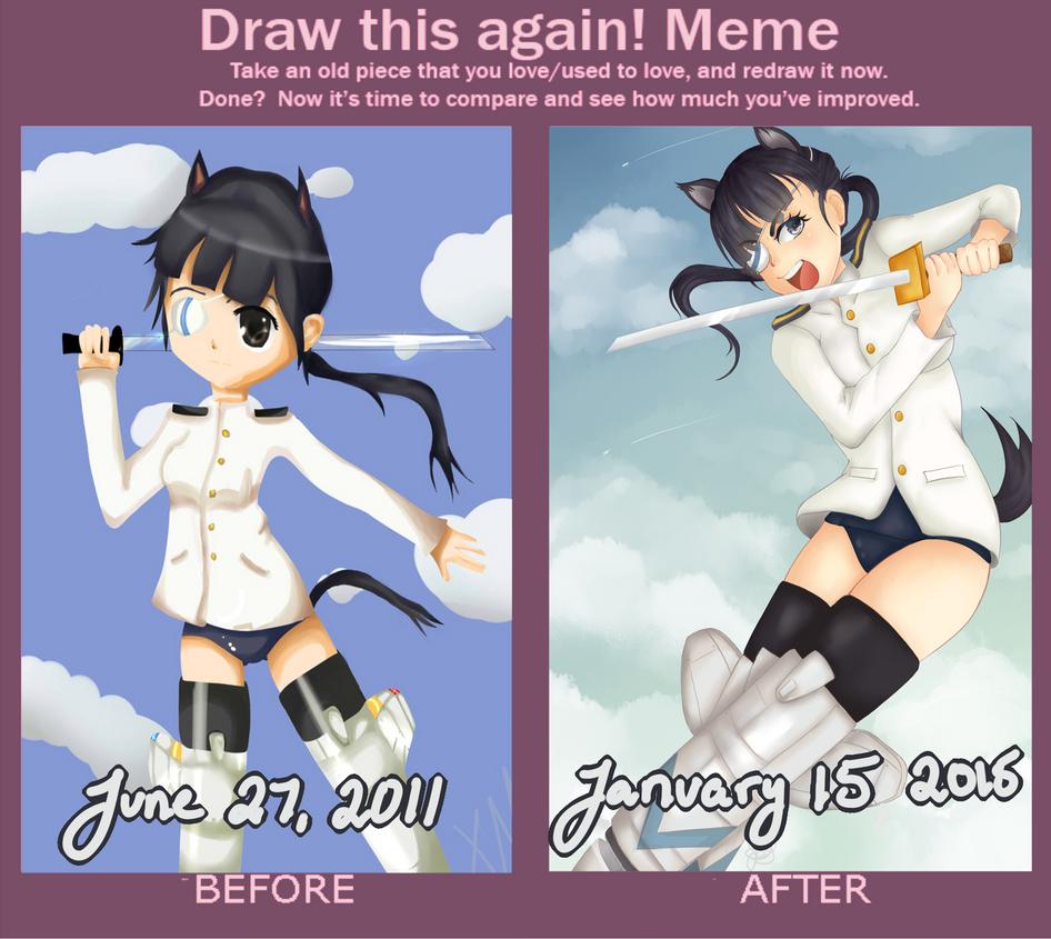 Draw Again Meme-- Mio Sakamoto by J-Mirakuru